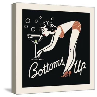 Bottoms Up-Retro Series-Stretched Canvas Print
