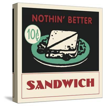Sandwich--Stretched Canvas Print