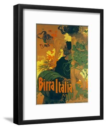 Birra Italia Milano-Adolfo Hohenstein-Framed Art Print