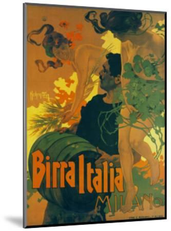 Birra Italia Milano-Adolfo Hohenstein-Mounted Art Print