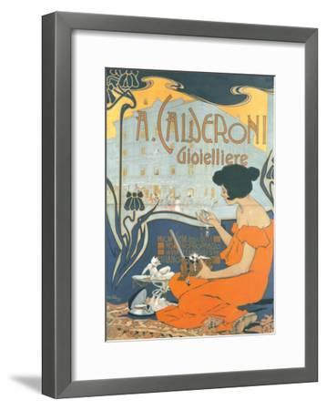 Calderoni Gioielliere 1898-Adolfo Hohenstein-Framed Art Print