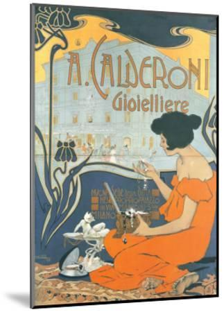 Calderoni Gioielliere 1898-Adolfo Hohenstein-Mounted Art Print