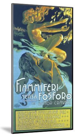 Fiammiferi Senza Fosforo-Adolfo Hohenstein-Mounted Art Print