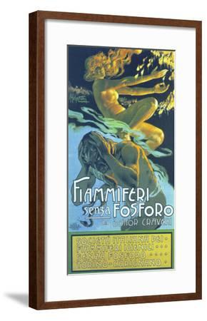 Fiammiferi Senza Fosforo-Adolfo Hohenstein-Framed Art Print