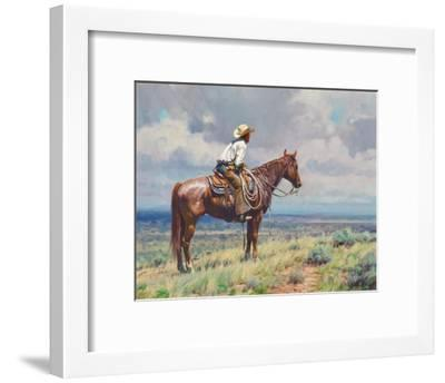 West Texas Cow Hunter-Martin Grelle-Framed Art Print