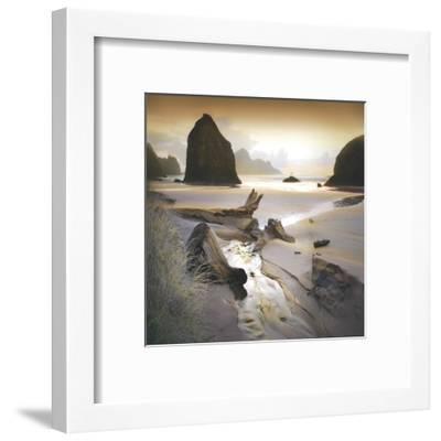 She Sleeps In The Sand-William Vanscoy-Framed Art Print