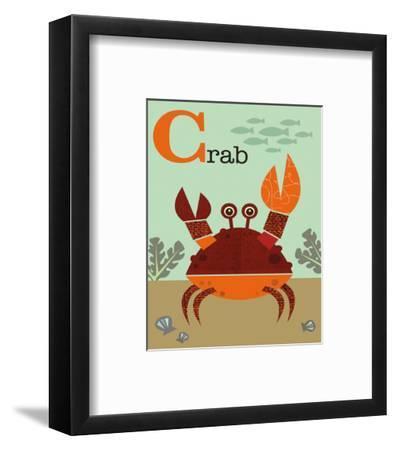 Crab-Jenn Ski-Framed Art Print