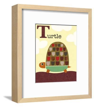 Turtle-Jenn Ski-Framed Art Print