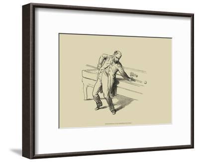Pool Hall Antics V--Framed Art Print