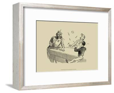 Pool Hall Antics VIII--Framed Art Print