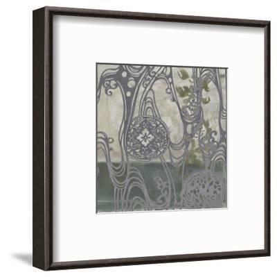 Small Medallions & Damask IV-Jennifer Goldberger-Framed Art Print