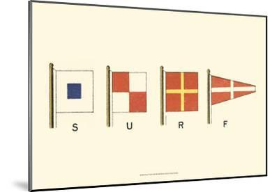 Surf--Mounted Art Print