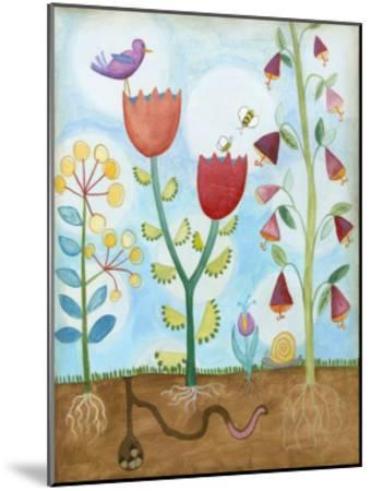 Whimsical Flower Garden I-Megan Meagher-Mounted Art Print