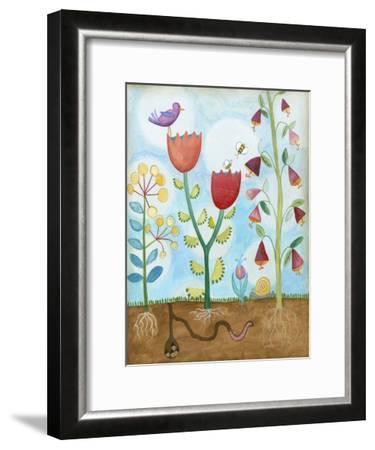 Whimsical Flower Garden I-Megan Meagher-Framed Art Print