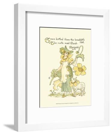 Shakespeare's Garden IX (Marigold)-Walter Crane-Framed Art Print