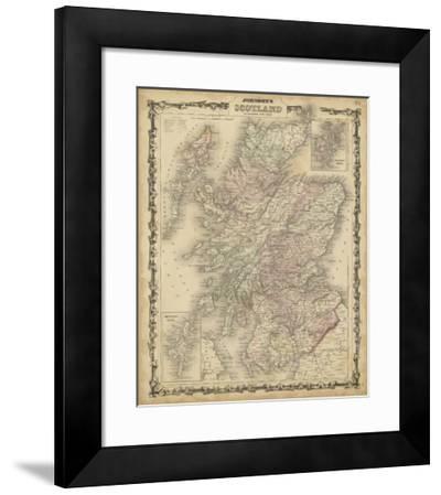 Johnson's Map of Scotland--Framed Giclee Print