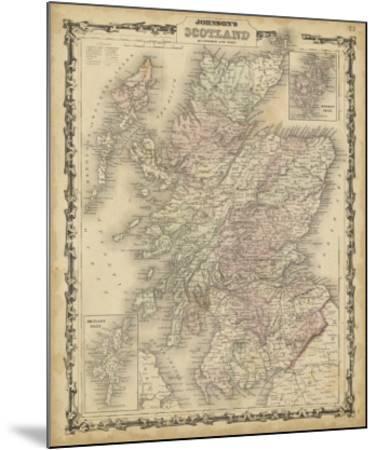 Johnson's Map of Scotland--Mounted Giclee Print