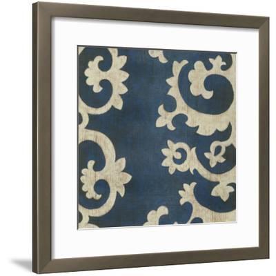 Indigo Suzani IV-Chariklia Zarris-Framed Giclee Print