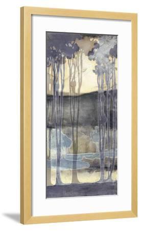 Embellished Nouveau Landscape II-Jennifer Goldberger-Framed Art Print