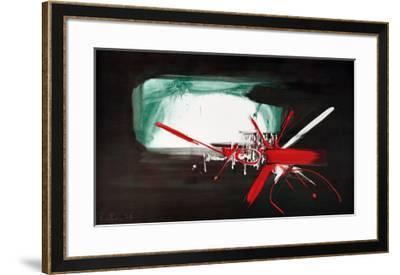 Composition (1958)-Georges Mathieu-Framed Art Print