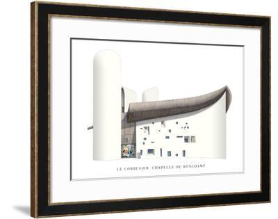 Chapel of Notre Dame du Haut, Ronchamp-Le Corbusier-Framed Art Print
