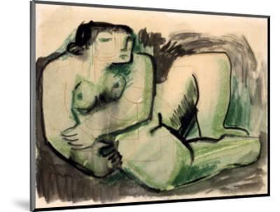 Study of a Reclining Nude, 1930-Henry Moore-Mounted Giclee Print