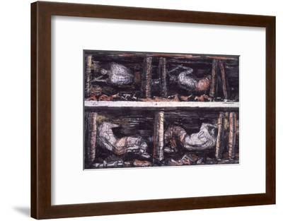 Four Studies of Miners at the Coalface, 1942-Henry Moore-Framed Giclee Print