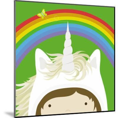 Peek-a-Boo Heroes: Unicorn-Yuko Lau-Mounted Art Print
