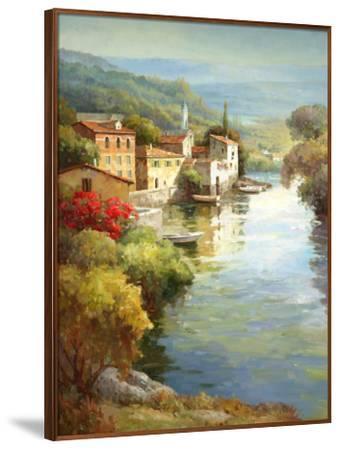 Village Along the River-Roger Decamp-Framed Art Print