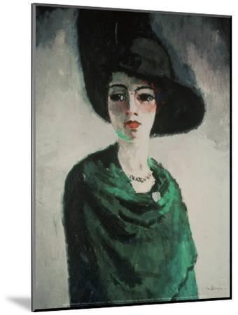 La Femme au Chapeau Noir-Kees van Dongen-Mounted Art Print