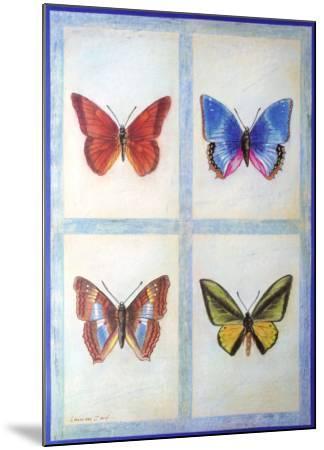 Blue Butterflies-Lewman Zaid-Mounted Art Print