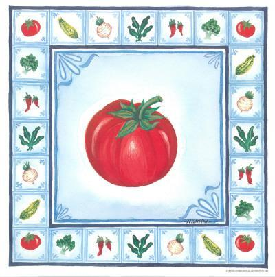 Blue Veggies II-Urpina-Framed Art Print