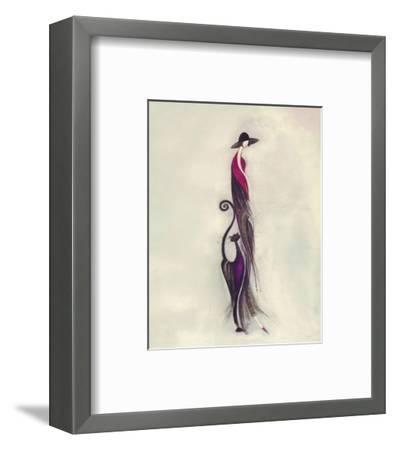 Feline II-Marilyn Robertson-Framed Art Print