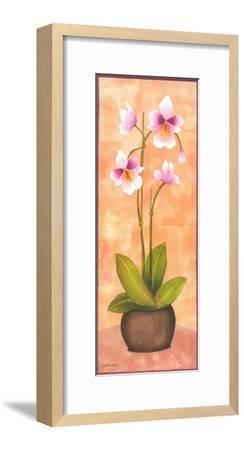 Flowers In Purple II-Urpina-Framed Art Print