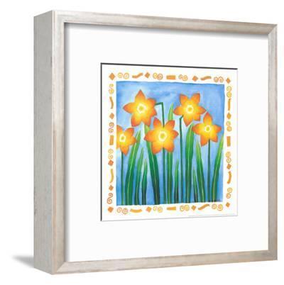 Flowers Reaching For The Sky IV-Urpina-Framed Art Print