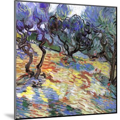 Les Oliviers-Vincent van Gogh-Mounted Art Print