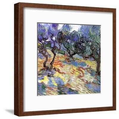 Les Oliviers-Vincent van Gogh-Framed Art Print