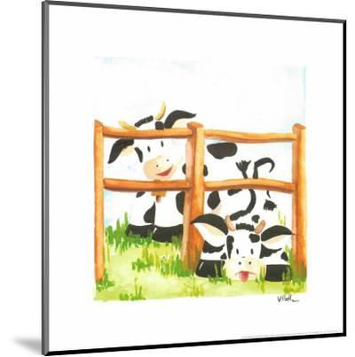 Littles Cows And Fences-Urpina-Mounted Art Print