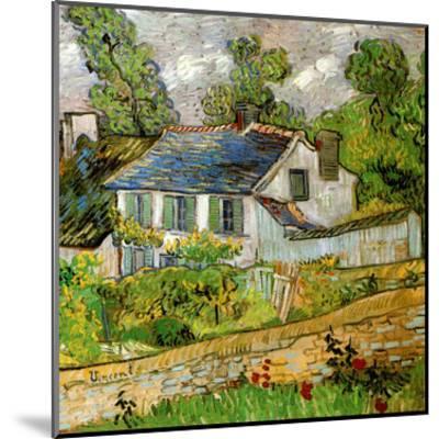 Maison a Auvers-Vincent van Gogh-Mounted Art Print