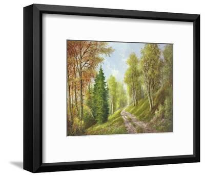 Mountain Path-Helmut Glassl-Framed Art Print