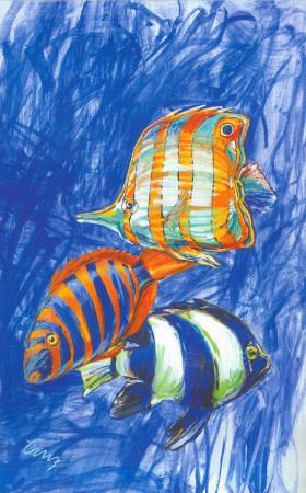 Orange Fish-Cruz-Art Print
