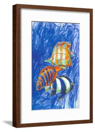Orange Fish-Cruz-Framed Art Print