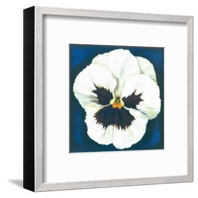 Pansy White-Urpina-Framed Art Print
