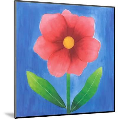 Pink Flower With Leaves-Urpina-Mounted Art Print