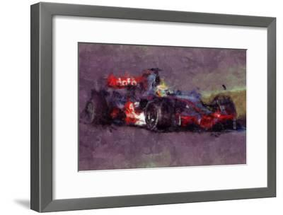 Racing Car 4-Jean-Fran?ois Dupuis-Framed Art Print