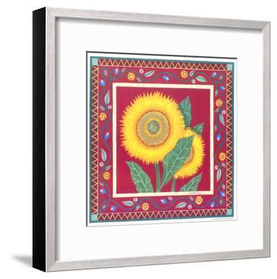 Radiant Sunflower II-Urpina-Framed Art Print