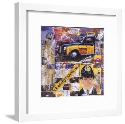 Taxi Jaune-Annick Bru-Framed Art Print