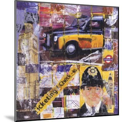 Taxi Jaune-Annick Bru-Mounted Art Print