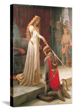 The Accolade-Edmund Blair Leighton-Stretched Canvas Print