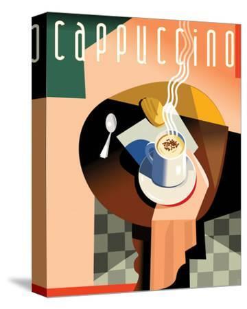 Cubist Cappucino II-Eli Adams-Stretched Canvas Print